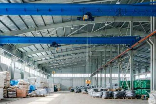 Interior of new warehouse
